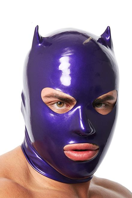 Limited Edition Purple Latex Devil Mask - Slick It Up