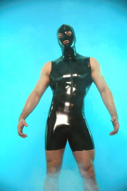LATEX-LOOK SHORT SUIT - Slick It Up