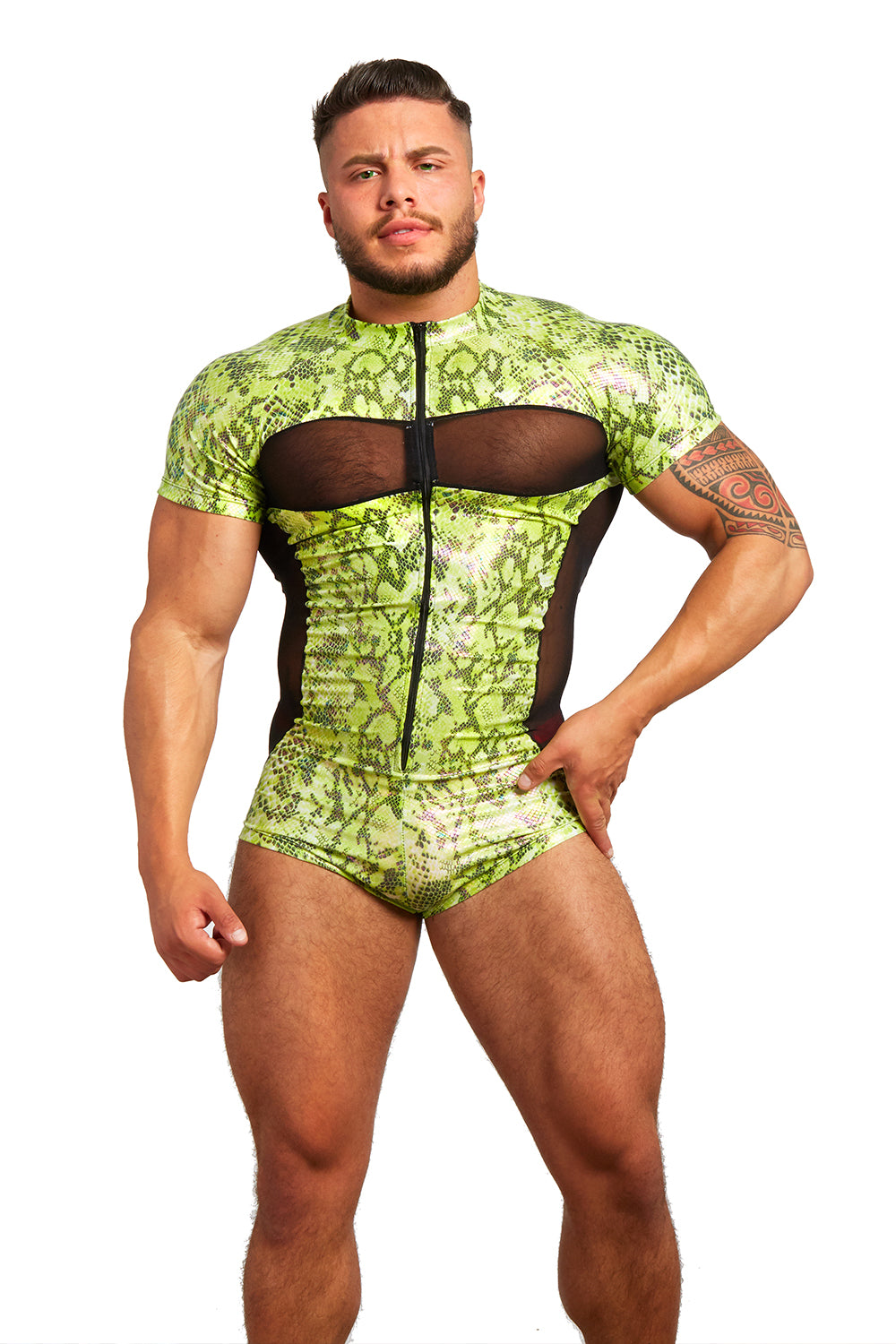 Slither Suit (Iridescent Green)