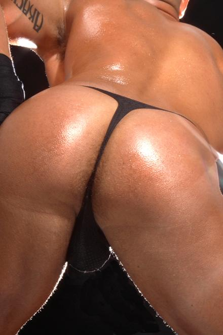 LEATHER-LOOK THONG - Slick It Up