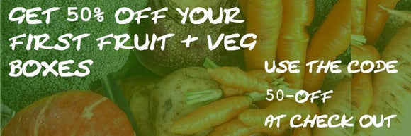 Get 50% off your first fruit & veg boxes