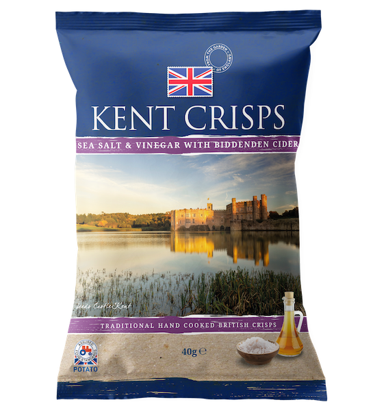 Sea Salt & Vinegar with Biddenden Cider Crisps 150g
