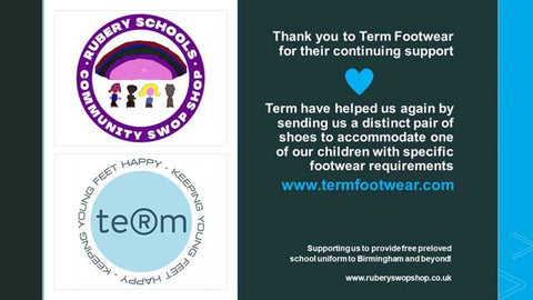 Term Footwear continued support of recycling school shoes to the local community