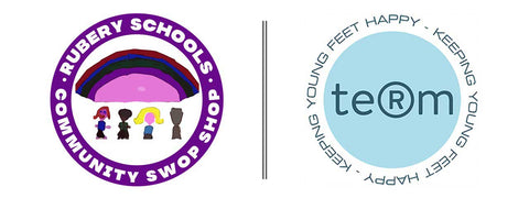 Term Footwear Teaming up with Rubery Schools Community Swop Shop for donating kids school shoes