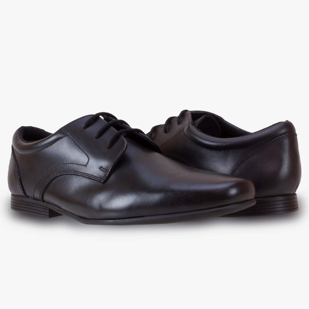 BEDFORD LACE UP SENIOR BOYS SCHOOL SHOE - Term Footwear