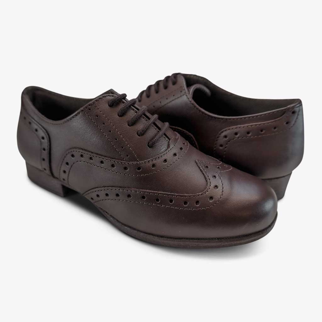 BELLA SENIOR GIRLS BROGUE IN BROWN - Term Footwear