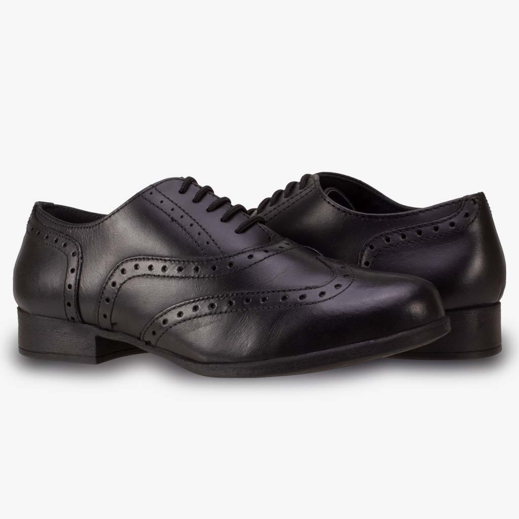 BELLA LACE UP SENIOR GIRLS BROGUE - Term Footwear