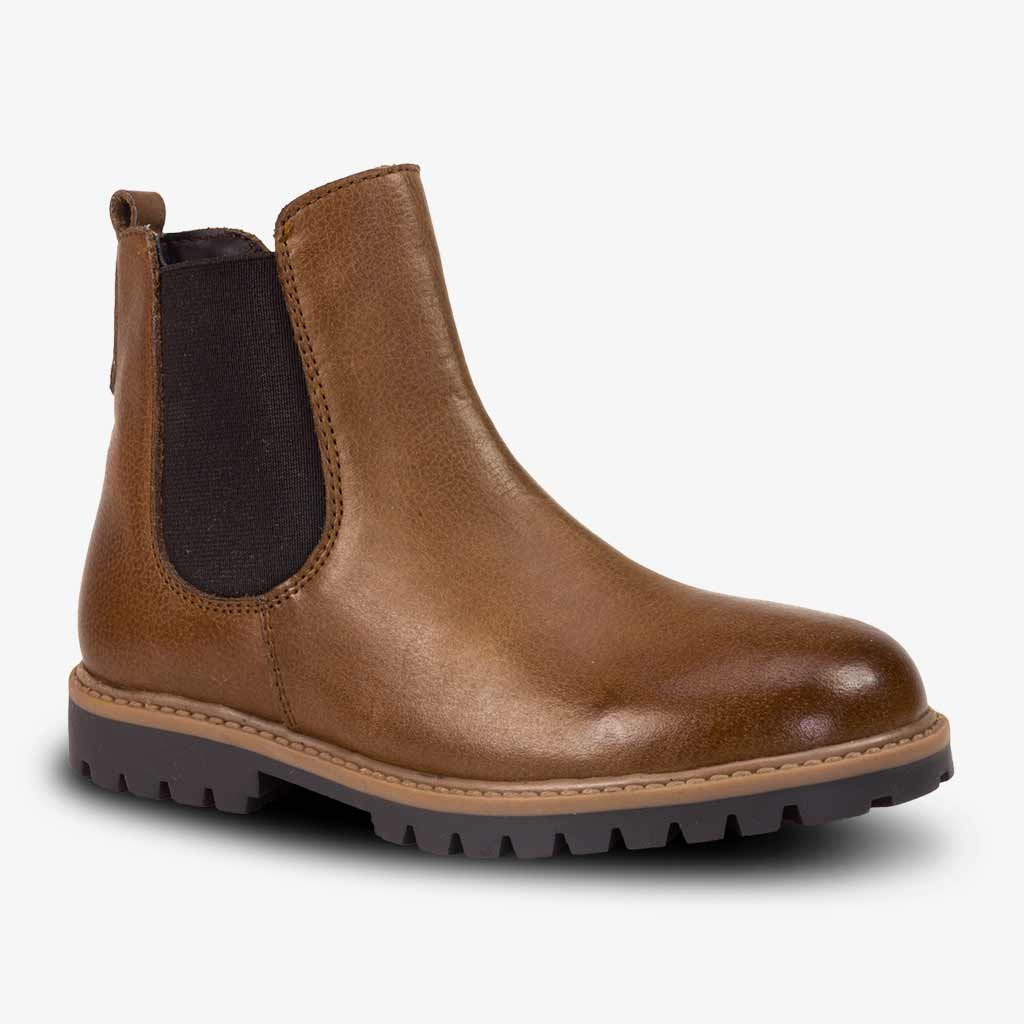 CLASSIC CHELSEA BOOTS IN BROWN - Boots