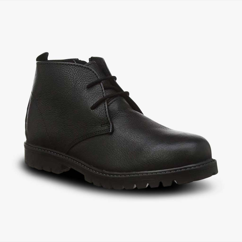 CHUKKA BOOTS BLACK WITH INNER ZIP FASTENING - Term Footwear
