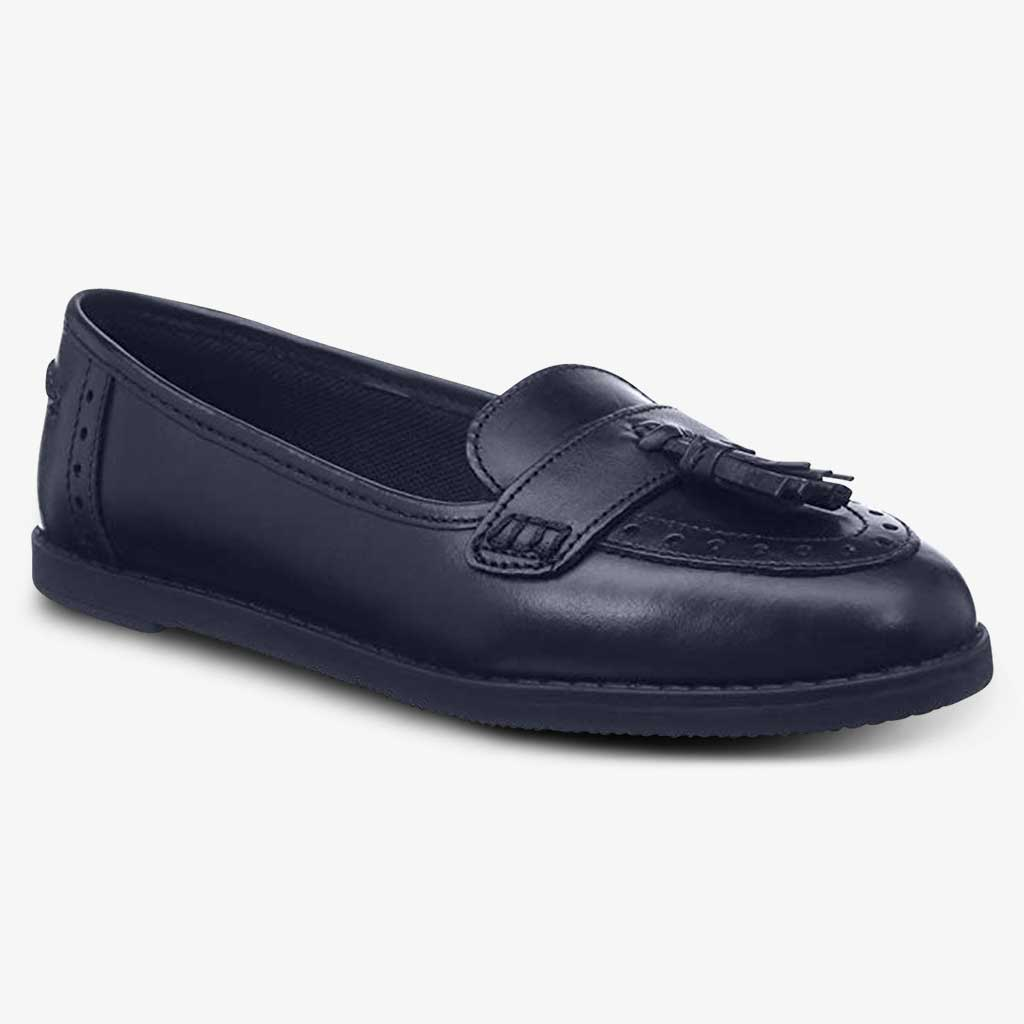 HARLEY LEATHER GIRLS LOAFER - Term Footwear