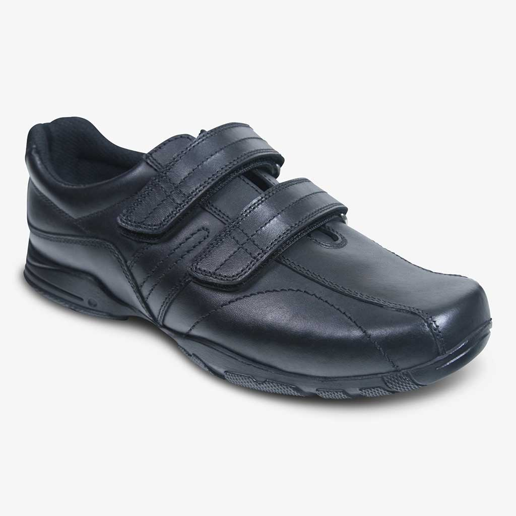 BOYS HODDLE SCHOOL SHOE WITH 2 STRAPS - Term Footwear