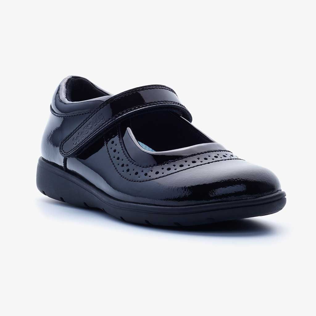 VEGA PATENT GIRLS FITTED MARY JANE SCHOOL SHOE - Term Footwear