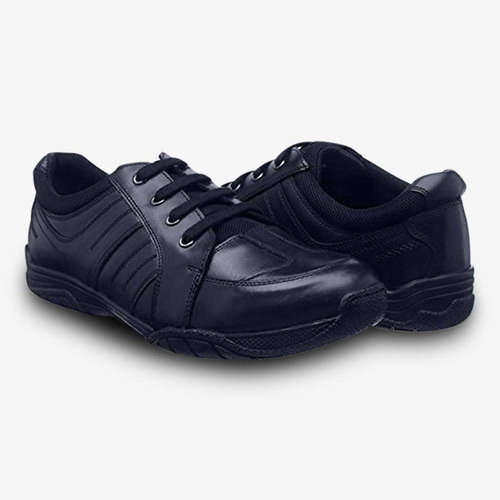 MAX BOYS LACE UP ATHLETIC SCHOOL SHOE - Term Footwear