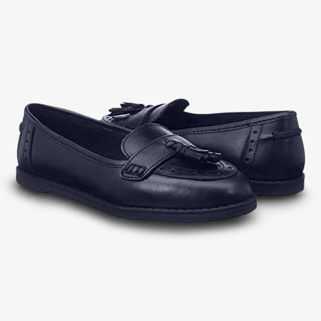 HARLEY LEATHER GIRLS LOAFER - Girls School Shoes