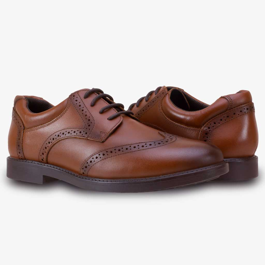TOM BROGUE SMART BOYS LACE SCHOOL SHOE IN BROWN - Term Footwear