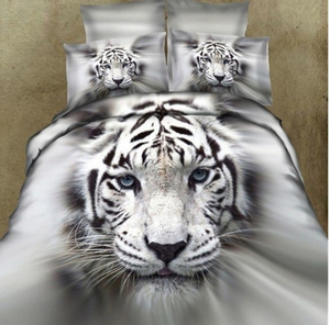 A three-dimensional white tiger