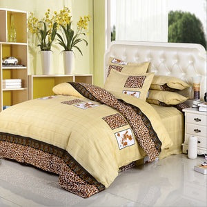 printing lovely flowers 4pcs/3pcs quilt Cover Sets