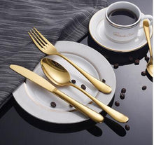 Load image into Gallery viewer, Gold Tableware Set