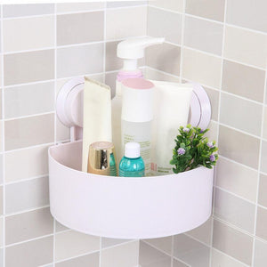 Corner shelf for bathroom mounted on a wall