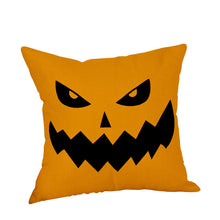 Load image into Gallery viewer, Pumpkin Print Happy Halloween Decorative Pillow Cover