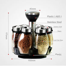 Load image into Gallery viewer, Seasoning Jars Set for Spices Pepper Sprays Bottles Salt Shakers