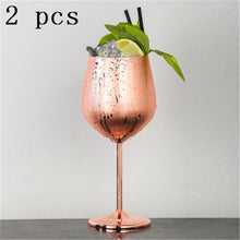 Load image into Gallery viewer, Stainless Steel Red Wine Goblets Pink Gold Goblets