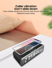 Load image into Gallery viewer, LED Electric Alarm Clock With Phone Charger Wireless