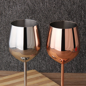 Stainless Steel Red Wine Goblets Pink Gold Goblets