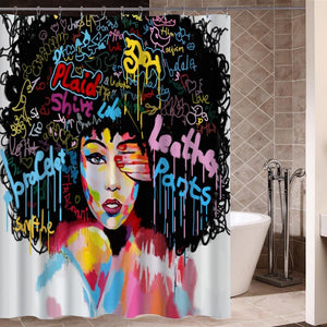 The African girl of hip hop bathroom design