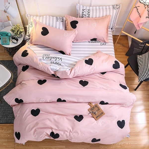 Pink Heart Bedding Sets