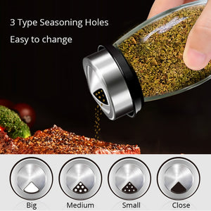 Seasoning Jars Set for Spices Pepper Sprays Bottles Salt Shakers