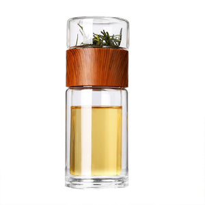 Tea Infuser Filter Double Wall Glass