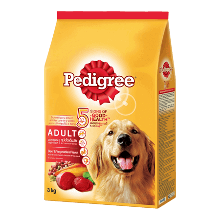 Pedigree Adult Beef and Vegetables Dog FoodProduct Packagingby Mog and Marley