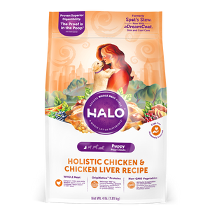 Halo Puppy Holistic Chicken and Chicken Liver Recipe Dry Dog Food