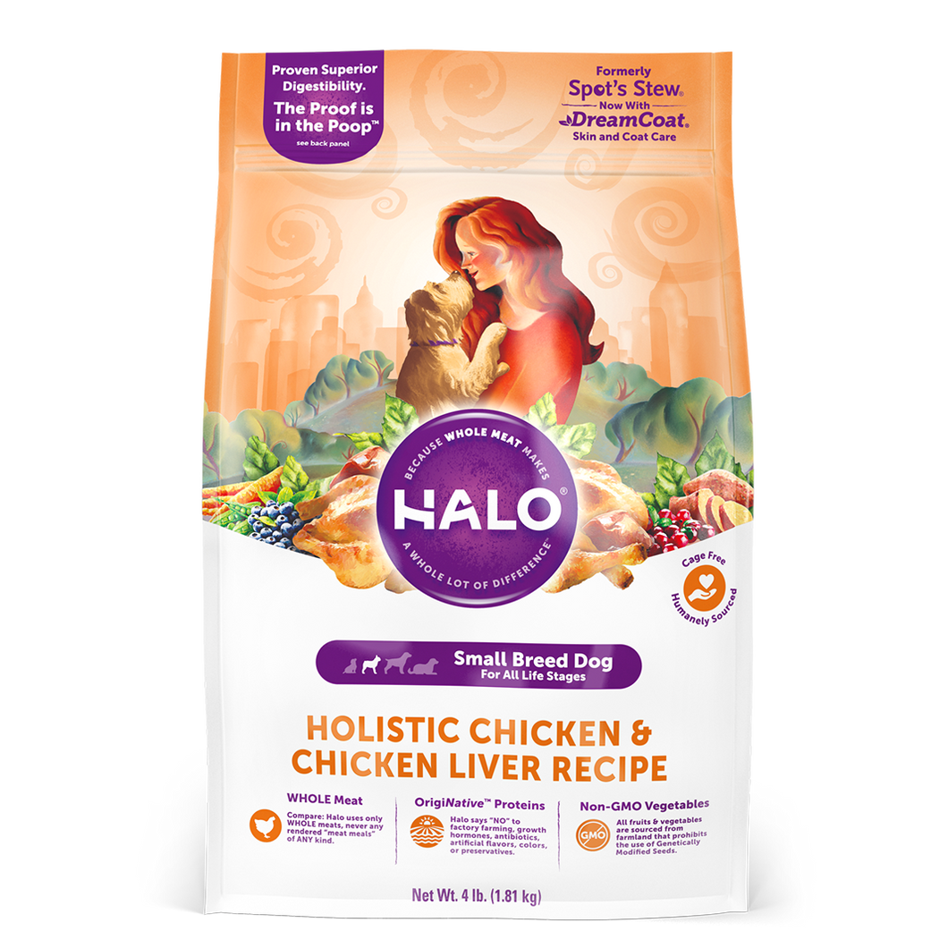 Halo Small Breed - Holistic Chicken & Chicken Liver Recipe Dry Dog Food