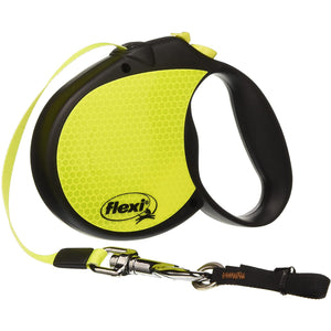 Flexi Neon Retractable Tape Dog Leash for Small Breed Dogs or Puppies