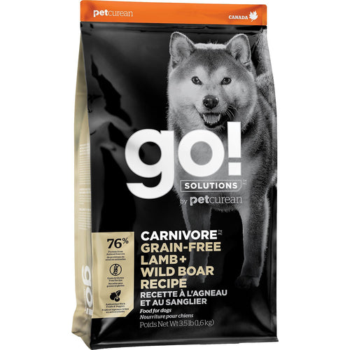 GO! Carnivore Lamb + Wild Boar All Life Stages Dry Dog Food
