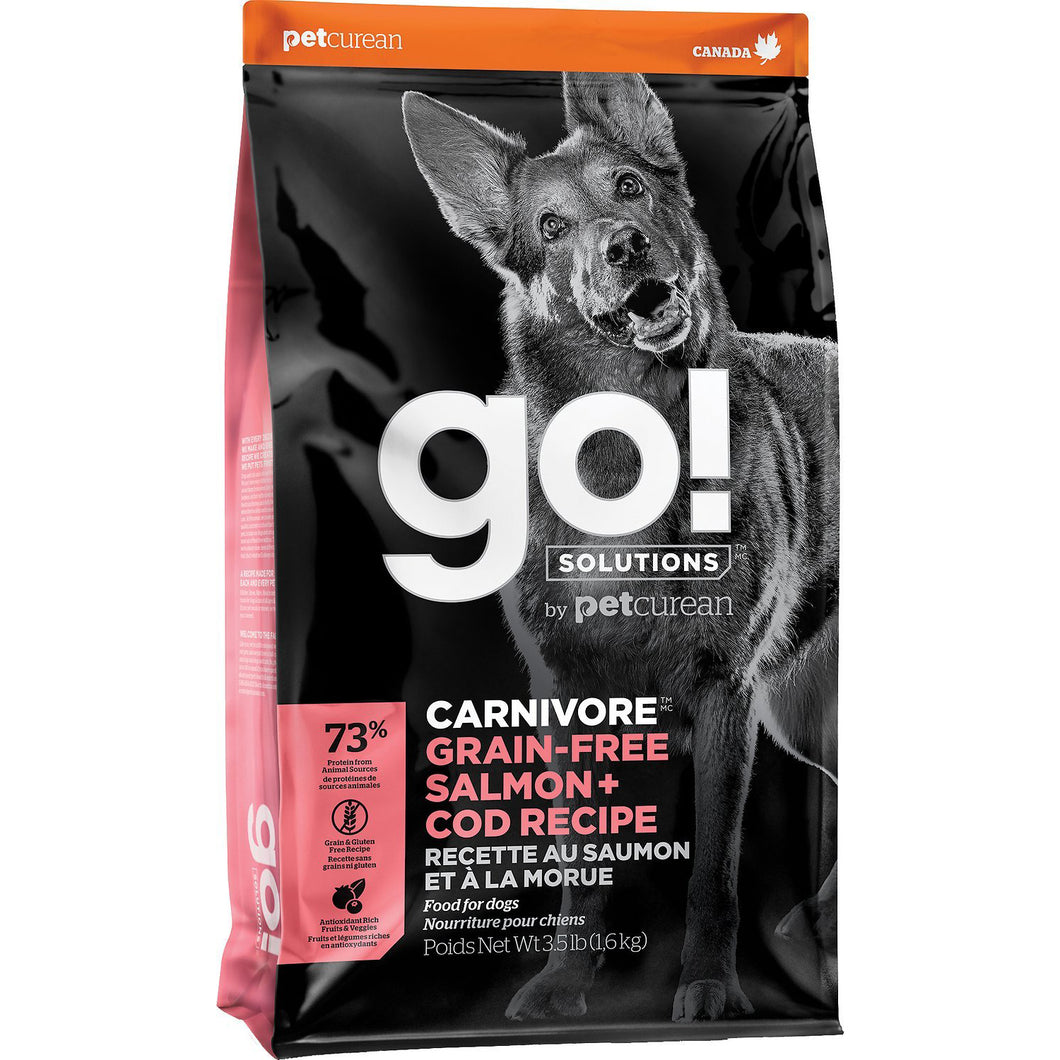 GO! Carnivore Salmon + Cod All Life Stages Dry Dog Food