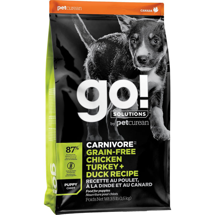 GO! Carnivore Chicken Turkey + Duck Recipe for Puppies Dry Dog Food