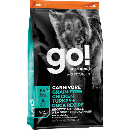 GO! Carnivore Chicken Turkey + Duck Recipe Adult Dog Dry Dog Food