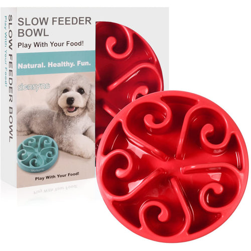 Siensync Slow Feeder Dog Bowl