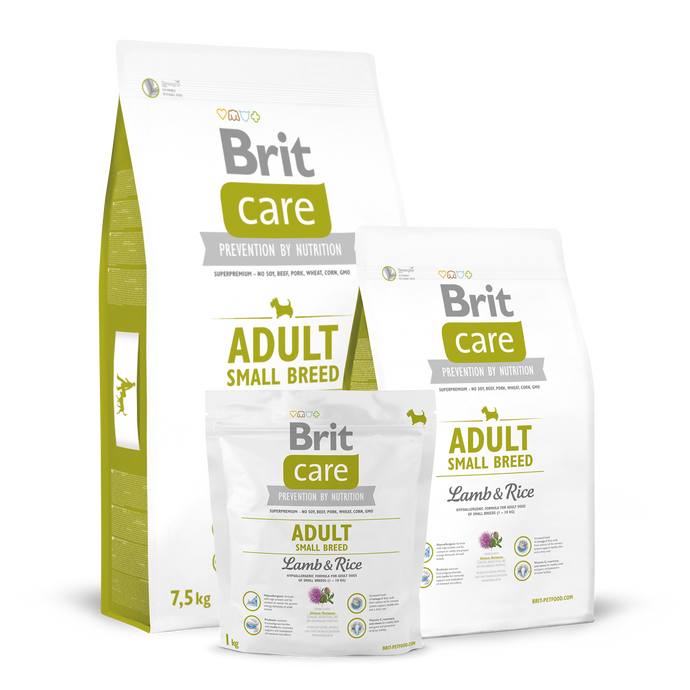 Brit Care Adult Small Breed Lamb and Rice Dry Dog Food
