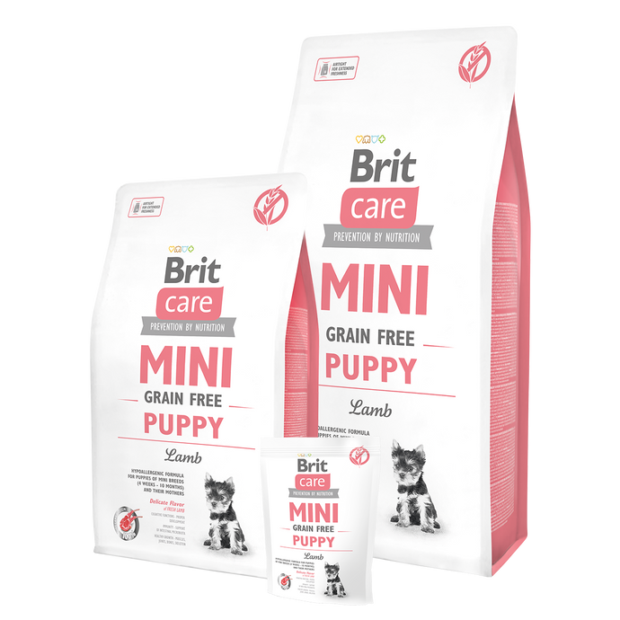 Brit Care Mini Grain Free Puppy Lamb Small Breed Dry Dog Food