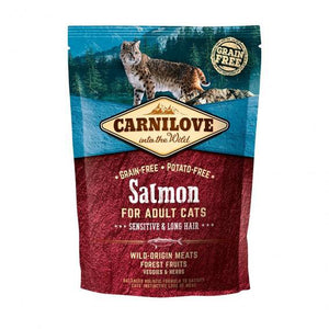 Carnilove Salmon for Adult Cats Sensitive & Long Hair Dry Cat Food 400g