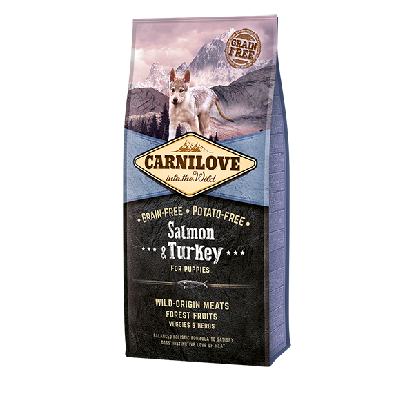 Carnilove Salmon and Turkey for Puppies Dry Dog Food