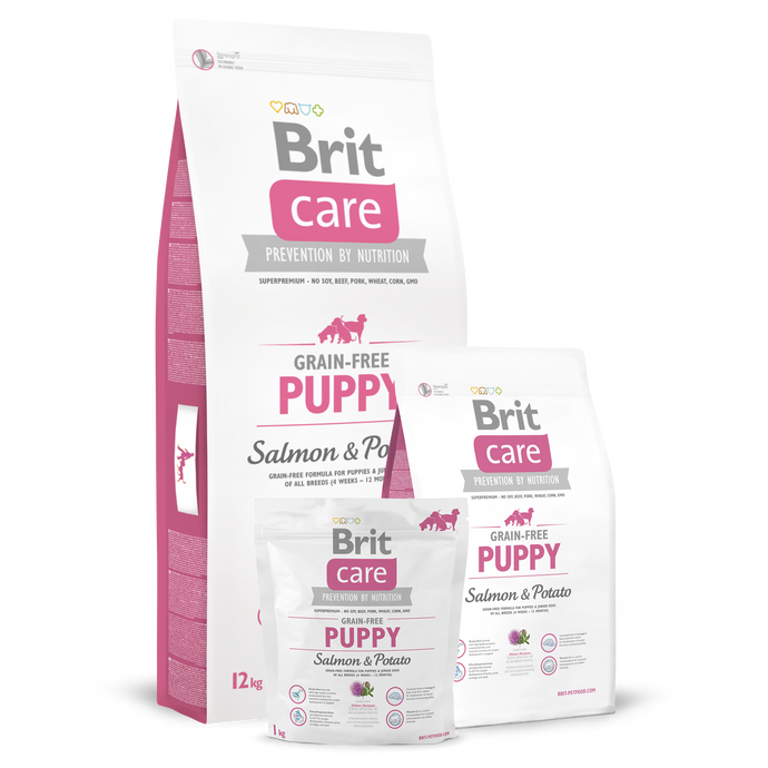 Brit Care Grain-Free Puppy Salmon & Potato Dry Dog Food