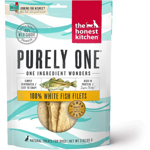 Purely One 100% Whitefish Filets Dog Treats 3 oz