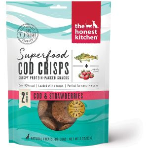 Super Food Cod Crisps Cod & Strawberry Dog Treat 3 oz