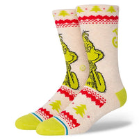 Stance Grinch Sweater Socks Mens Large