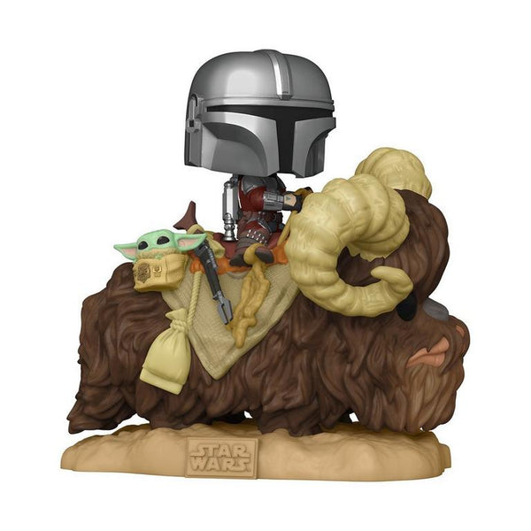 Funko Star Wars The Mandalorian on Bantha with Child Deluxe Pop! Vinyl Figure